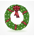 Christmas Holiday Wreath Isolated on White vector image