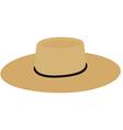Straw hat vector image