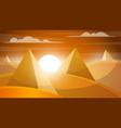 desert landscape pyramid and sun vector image