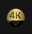 4 k ultra hd vector image vector image