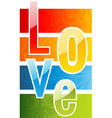 A colorful love abstract background vector image vector image