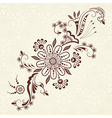 abstract floral elements in Indian mehndi style vector image vector image