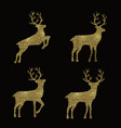 abstract set with golden deer set for celebration vector image vector image