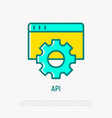 api thin line icon modern vector image