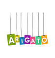 arigato greeting card vector image