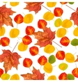 autumn leaves seamless pattern texture vector image vector image