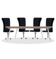 boardroom table and chairs scene vector image
