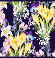 bouquet many king spring flowers vector image