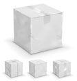 Boxes set vector image vector image