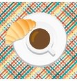 Cartoon coffee With croissant vector image
