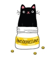 Cat and antidepressant vector image
