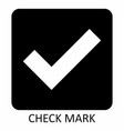 check mark icon symbol vector image