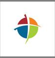 church icon logo circle solid vector image
