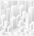 city white bleached isometric map consisting vector image vector image