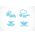 Cloud Logo Services vector image vector image