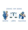 collection of zodiac signs of vector image