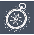 compass line icon isolated on dark vector image