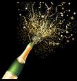 confetti bottle champagne background vector image