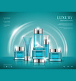 cosmetics blue background vector image
