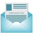 Curriculum vitae opened envelope concept vector image vector image