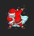 cute santa dabbing dance graph vector image vector image