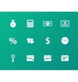 Economy icons on green background vector image vector image