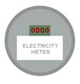 electricity meter flat on white vector image vector image