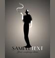 elegant silhouette lady-02 vector image vector image