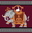 elephant india vector image vector image