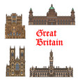english travel landmark of great britain thin icon vector image vector image