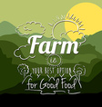 Farm Food design vector image vector image