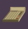 flat shading style icon economy calculator vector image vector image