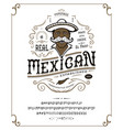 font mexican craft retro vintage typeface design vector image
