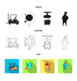 goods and cargo icon set vector image vector image