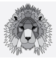 Gray low poly lined lion vector image