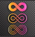 infinity shape unlimited symbol endless infinite vector image