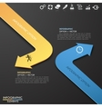 Infographic template with 2 arrows vector image vector image