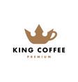 king crown coffee logo icon vector image vector image