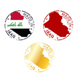 made in Iraq stamp vector image vector image