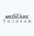 medicare banner web icon for health care vector image