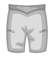 Men beach shorts icon gray monochrome style vector image vector image