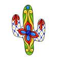 mexican ornamental cactus vector image vector image