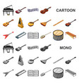 musical instrument cartoon icons in set collection vector image