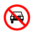 No car or no parking traffic sign prohibit sign vector image vector image