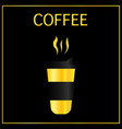 paper coffee cup mock-up on black reflective vector image