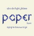 paper font alphabet vector image