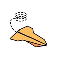 paper plane air free fun line dotted vector image