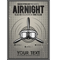 Party Leaflet airplane brochure cover club vector image
