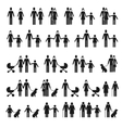 People family icons Man and woman child pet vector image vector image