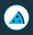 pizza icon colored symbol premium quality vector image vector image